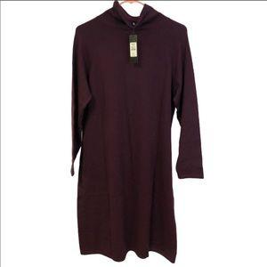 Talbots Pure Merino Cowlneck Wool Dress NWT XL